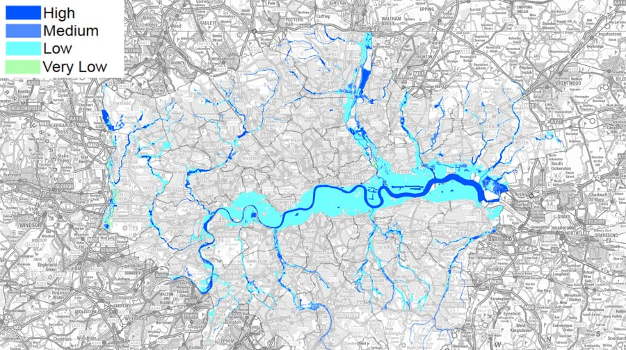 southwark has most properties at risk of flooding says study southwark news