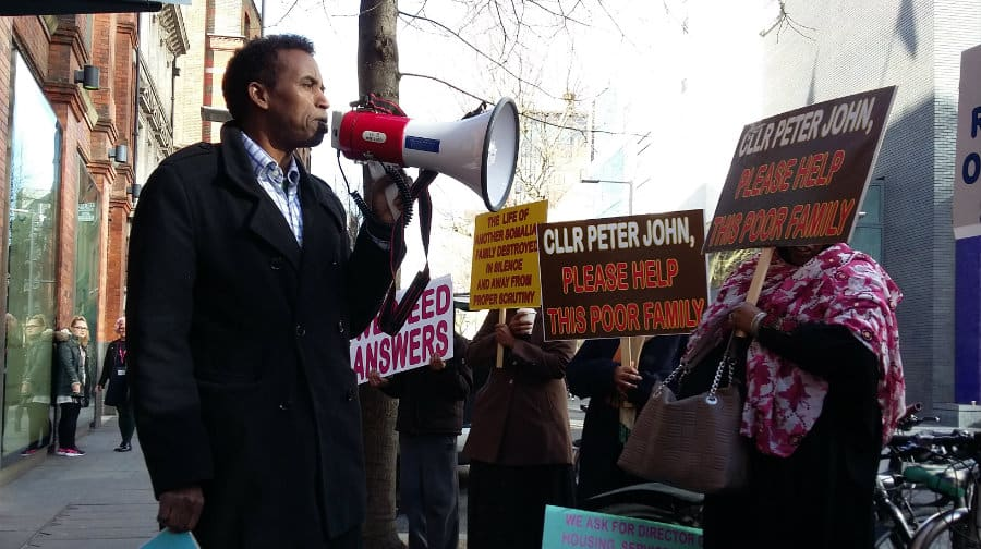 """Shame on Southwark Council"" say protesters at Tooley Street"