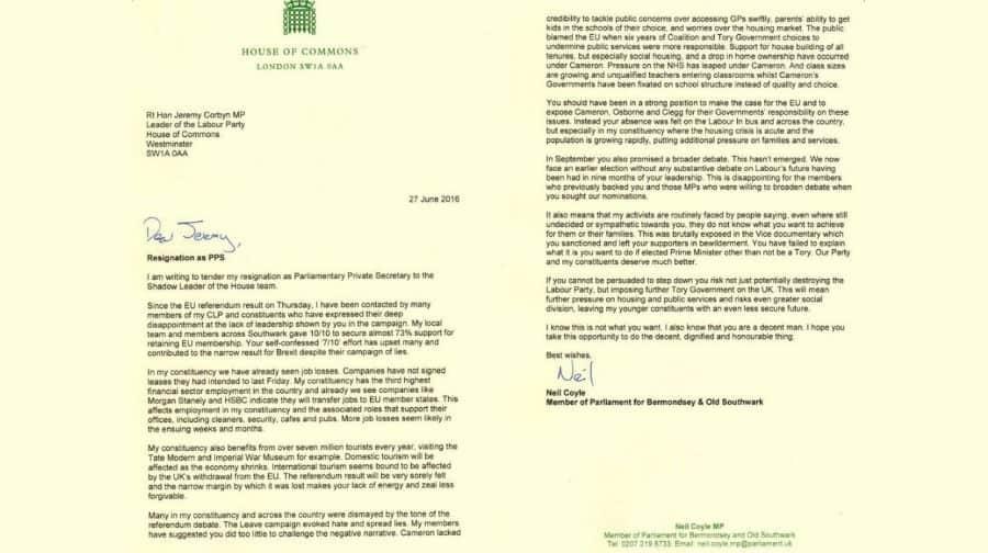 Neil Coyle Resignation Letter - Southwark News