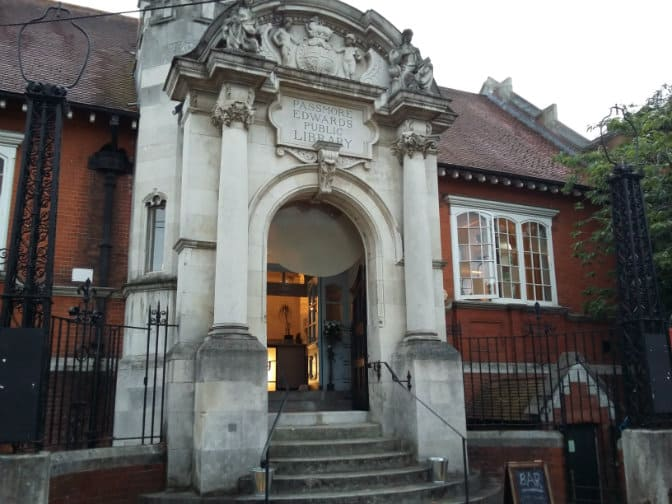 Passmore Edwards Library in Wells Way, Burgess Park