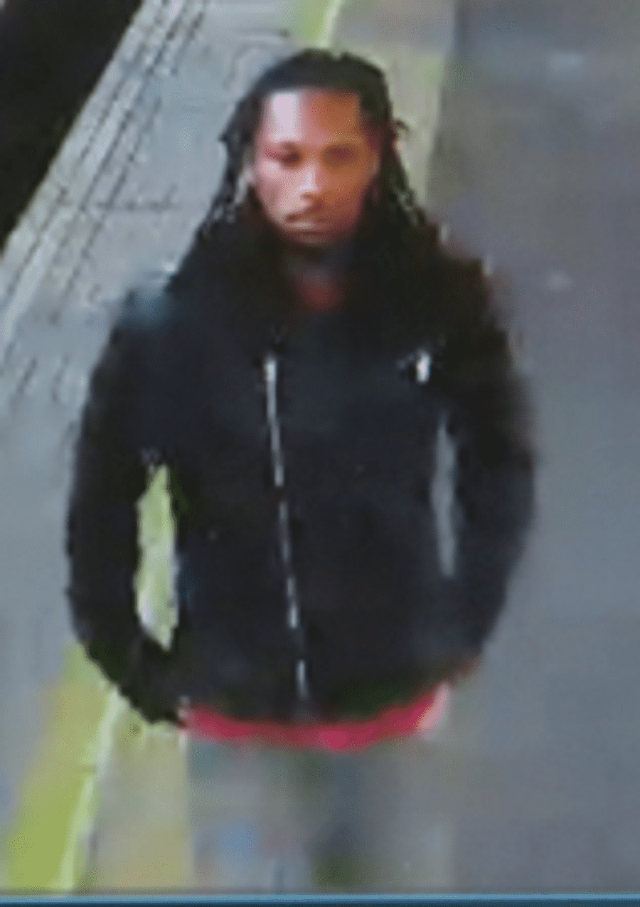 British Transport Police have released a CCTV image of a man they would like to speak to after a passenger was violently assaulted during an attempted robbery on board a train from Canada Water