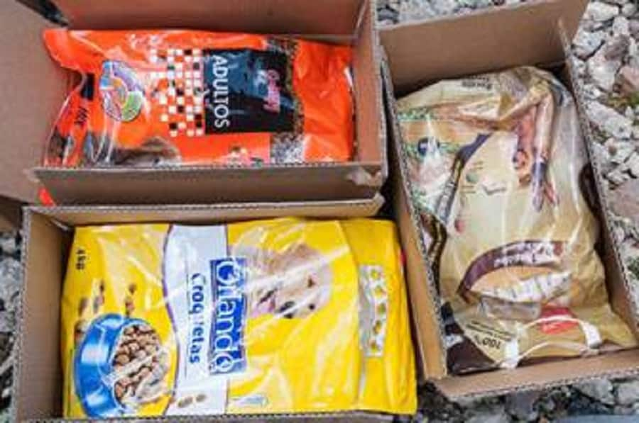 The cannabis was hidden underneath bags of dog food (National Crime Agency)