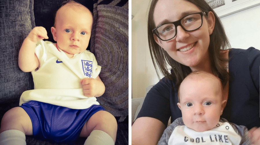 Rotherhithe mum Sophie Rutherwood says her 'miracle' baby Ethan is England's lucky mascot - as every time he wears their football kit they win