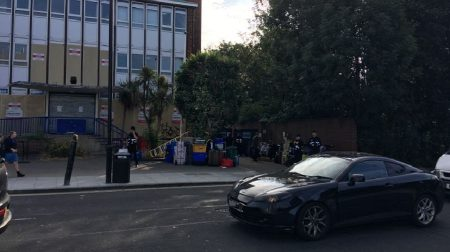 Squatters were evicted from the closed-down Rotherhithe police station in Lower Road