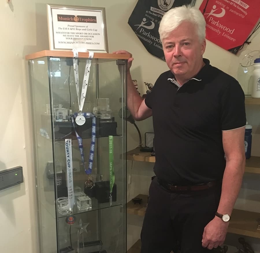 Marc Cowcher, managing director of Munich 72 Trophies in Bermondsey, fears the business may be priced out of the area after being served notice on his lease