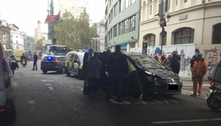 One hospitalised after Southwark Street traffic accident