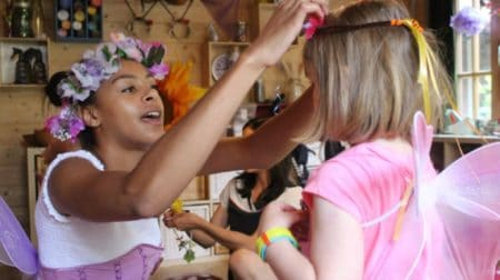 Children gain an immersive experience at Whippersnapper's Fairyland.