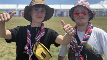 Pictured is Flynn and Tadhq O'Rourke from Hernes Hill. Photo provided from media@glsescouts.org.uk.