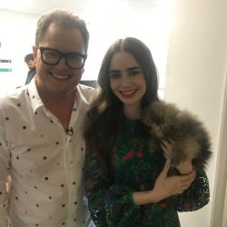 The local pup has met TV's chatty man, Alan Carr