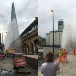 Blown Fire Hydrant on St Thomas Street
