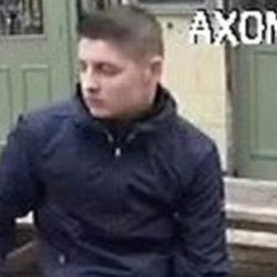 Police want to speak to this man in connection to a clash between Millwall and Bristol City fans outside The Gregorian pub in Bermondsey on April 7, 2018