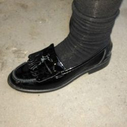 Patent leather is not allowed at the school
