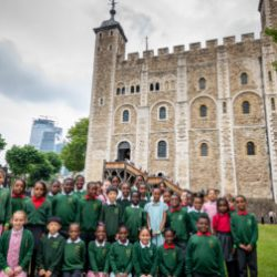 Hollydale Primary School performs at the Tower of London. Photo provided by Historic Royal Palaces Press Office.