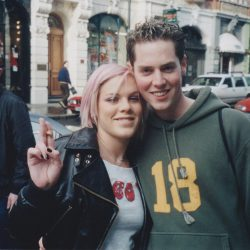 With Pink in early 2002