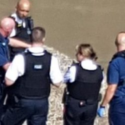 Officers at the scene of the incident in Bermondsey
