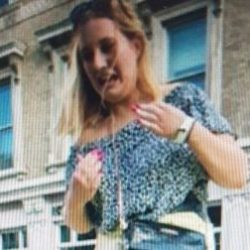Southwark police would like to speak to this woman after a London Ambulance Vehicle was damaged during World Cup celebrations in Borough High Street on July 7, 2018