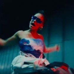 Jorja Smith can be seeing ridiing through the busy Rotherhithe Tunnel on a jet ski for her latest track (Image: YouTube / Vevo)